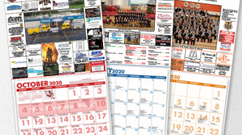 Image of 3 full color tear sheet calendars