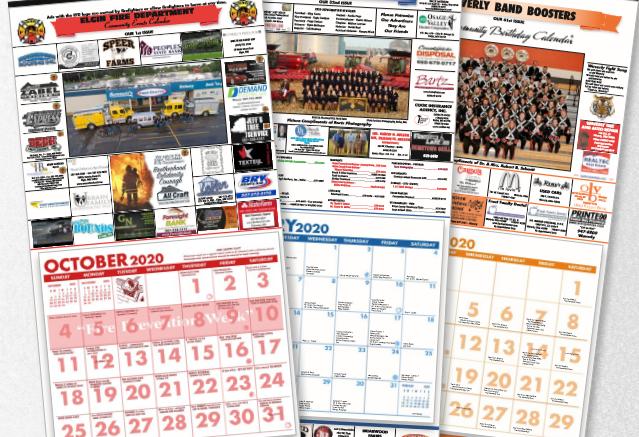 Image of 3 full color tear sheet calendars